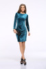Custom Women Long Sleeve Boat neck Slim Fit Bandage Dress SD47