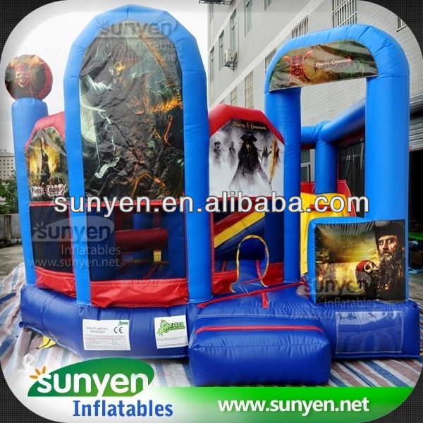 Pirates of The Caribbean Custom Inflatable Bouncer And Slide