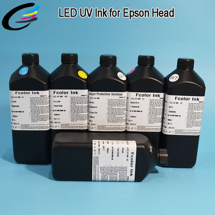 Excellent Flexibility LED UV Inkjet Printer Ink for Soft PU / PET / PC / Flexible Printing Inks