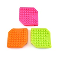New product 2019 silicone double sided massage cleaning body brush