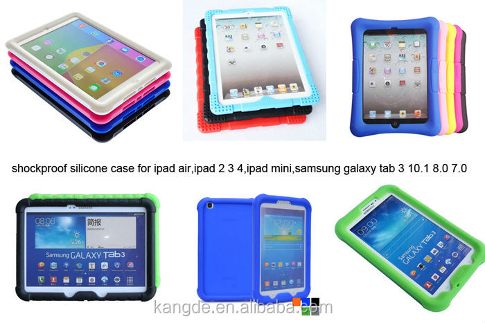 for ipad 4 case,rugged silicone case for ipad 4 case,shockproof case for kids