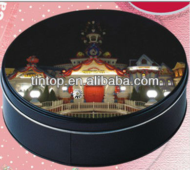 christmas tin box for gift /cake/food packaging