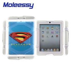 Superman silicon case for ipad 234 ,Military Builder Workman Heavy Duty Case, Shock Proof Touch Screen Case Cover For ipad 234