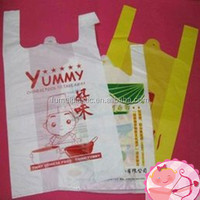 China factory wholesale custom white plastic shopping bag