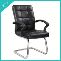 leather chrome frame office chair seat cover