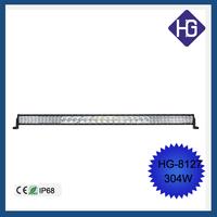 2015 New 5w*3w beans 304W IP68 Crees 50 inch 288W 3D 4D 5D led light bar