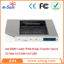 With Screwdriver Universal Laptop SATA3 Solid State Drive Case 12.7mm Unltra Thin HD1203-SS3