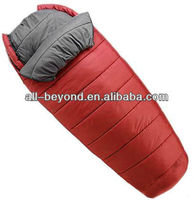High quality goose filling fire resistant camping double layer down sleeping bag