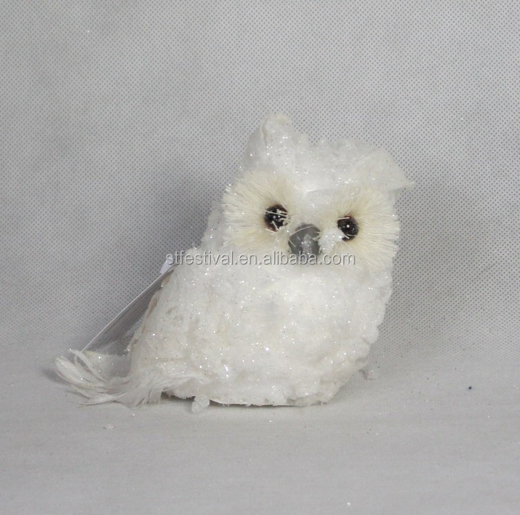 New style tree ornament snow owl decoration wholesale
