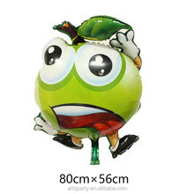 Wholesale apple fruit aluminum balloon for party decoration apple shape foil helium balloonn