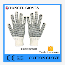 pvc dotted gloves 10 guage point bead cotton glove for industril using,resist cutting