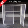 Custom-made welded wire mesh cat play pen