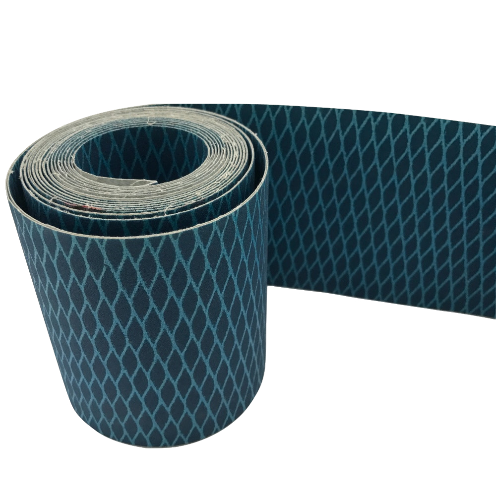 Sharpness P150 rhombus-shaped anti-clogging <strong>J</strong> weight flexible aluminum oxide abrasive cloth roll sand belt