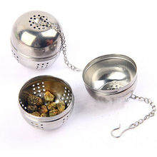 European Hot Sale 4cm Diameter Tea Infuser Stainless Steel Egg Shape Spice Ball Strainer