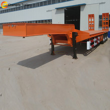 4 Axle Agricultural High Tractor Gooseneck Low Bed Flatbed Loader Semi Trailers for Sale