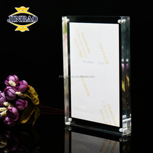 JINBAO clear magnetic acrylic photo frame box,picture display photo frame