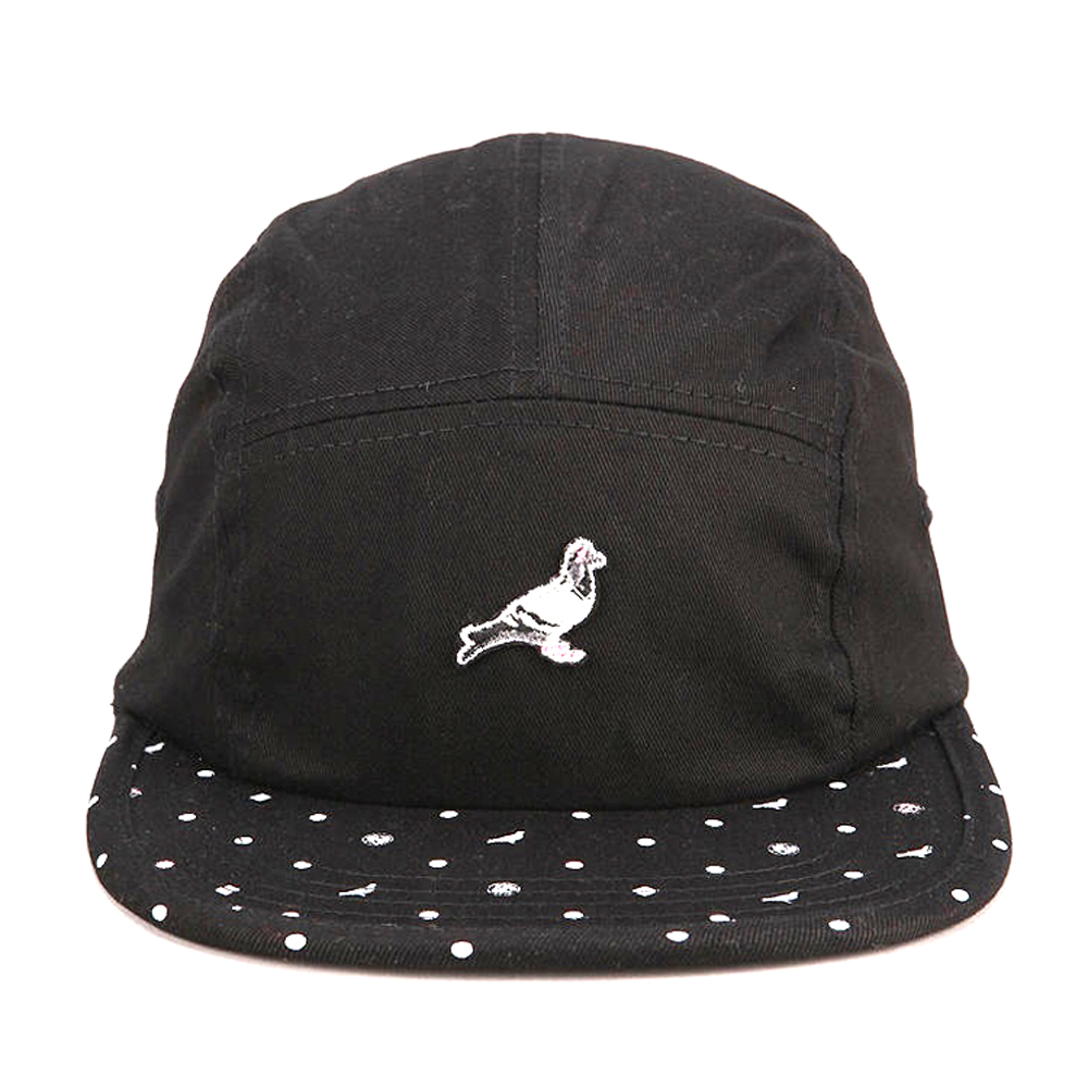 5 panel wholesale hats/black and white 5 panel cap