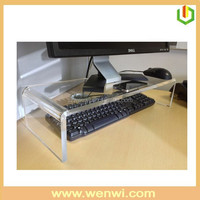 Simple Style Clear Acrylic Computer Monitor Stand