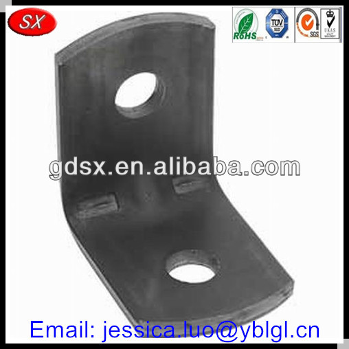 Dongguan stamped black steel corner bracket,heavy duty angle brackets,connector brace corner bracket metal bracket angle