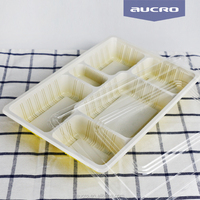 compartment take away fast food packaging microwave biodegradable containers with lids disposable for food china suppliers