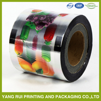 PET+CPP plastic cup sealing roll film