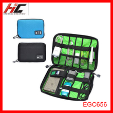 EGC656 High quality universal electronic accessories carry on USB travel cable organizer bag pouch
