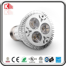 UL par20 cree led lighting 6w 3X2W types