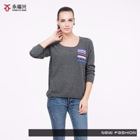 Superior fabric new winter knitting model polyester sweater