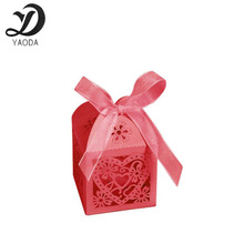 10pcs hollow red love heart favor ribbon gift box candy boxes wedding party