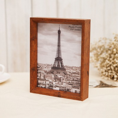 double-sided wooden photo frame simple to do the old retro wall hanging photo wall desktop decoration