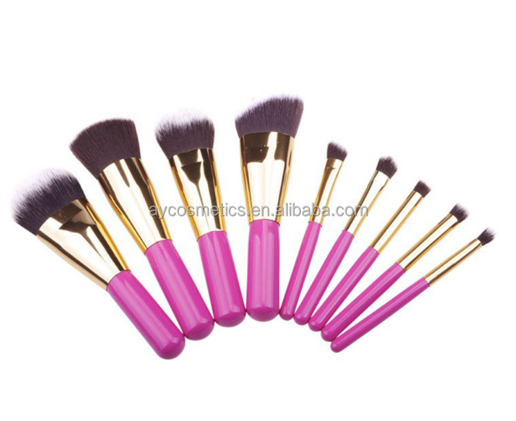 Aoyue Private Label Acceptable 8 pcs mini Wool Makeup Brushes Tools Set