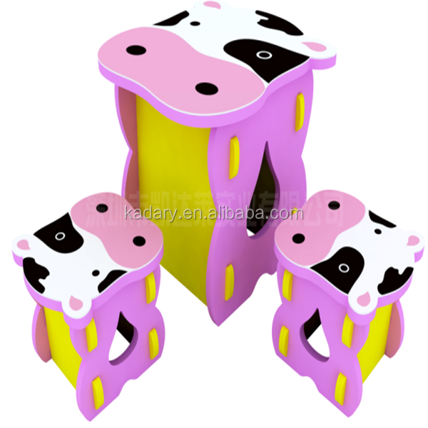 Good density Cute Cow Pattern EVA Baby Furniture