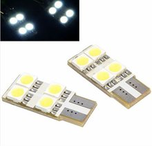 3-Chips 194 147 Lamp 4 LED 5050 SMD T10 White Auto Car Side Light Canbus Bulb