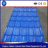 Colored Steel Glazed Tile Roof Panel/Roofing Tiles In China/Flat Roofing Tiles India