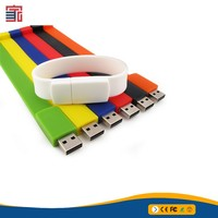 Wholesale price new custom bracelet bulk 1gb usb flash drives