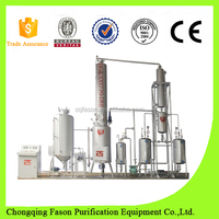 All particles removing of engine oil refinery treatment with environmental protection