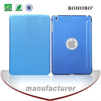 Cell phone accessories Flip Gridding PU leather+PC case for Ipad mini 2