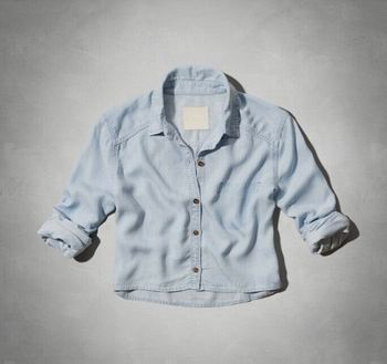 Factory Sale OEM Design ladies denim shirt wholesale