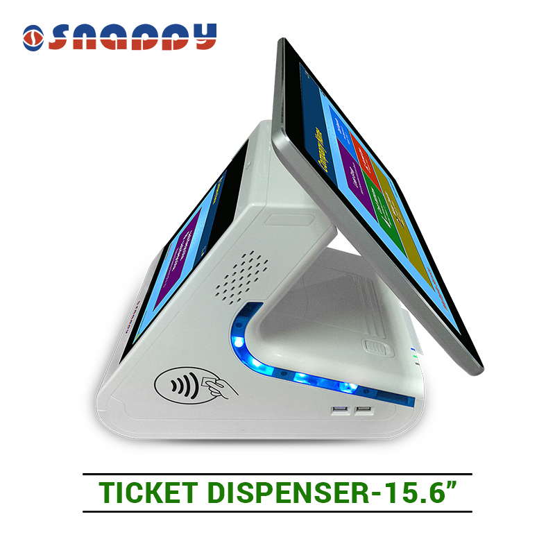 15.6 inch bank/hospital using  different language voice prompt ticket dispenser for queue management system