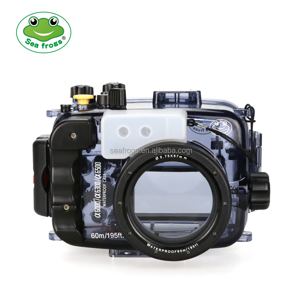 For Sony A6500/A6300/A6000 Camera Waterproof case 60m/195ft SeaFrogs Underwater Camera Housing