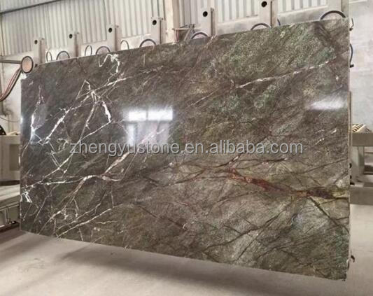 Exquisite Tropical Rainforest Green Marble Slab