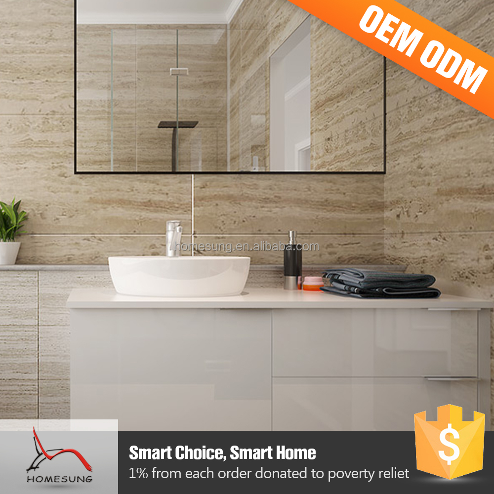 All In One Free Standing Unit White High Gloss Bathroom Vanity