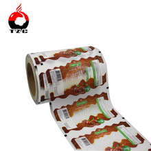 custom design opp plastic food packaging film roll with a window for chocolate
