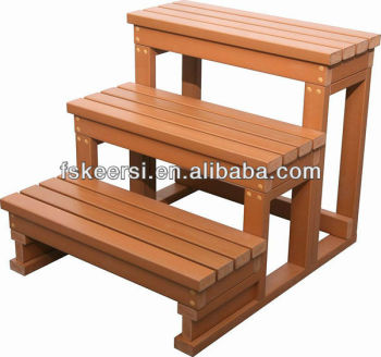 Plastic Hard Wood Hot Tub Step Buy Outdoor Wood Steps
