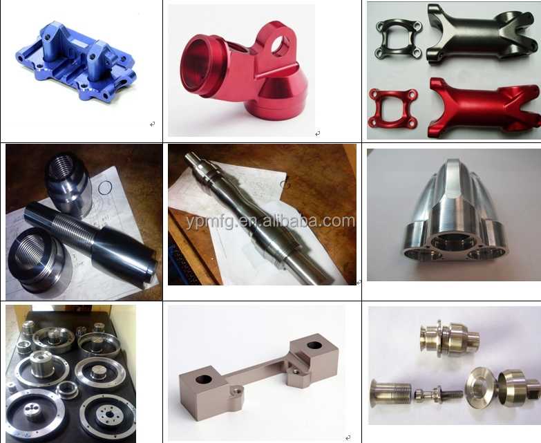 cnc machining aluminum parts with anodized finish