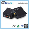 Factory price Digital Optical Coaxial audio to Analog 2RCA and 3.5mm earphone output Audio hub Converter