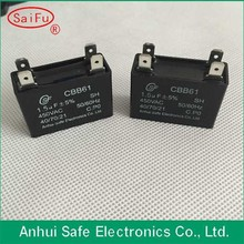 Hot sale CBB61 capacitors, AC fan motor capacitor, generator capacitor with able wire type
