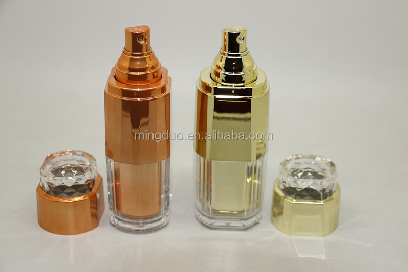 60-80ml Acrylic bottle and 3-50g cosmetic jar set