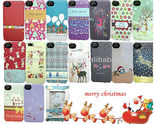 Promotion case for iphone 5, For iPhone 5 Christmas rubber case