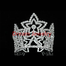 Wholesale Flower Girl / Baby Crystal Full Circle Round Star Mini Crown Tiara